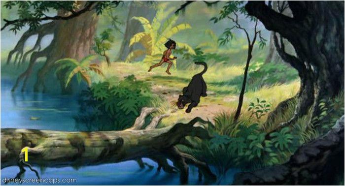 Jungle Background Art for the 1967 Movie Jungle Book