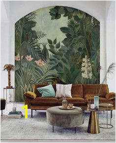 Jungle Wallpaper Mural Tropical Rainforest Jungle Green Mural Rousseau s Dream Tropical Jungle custom personalized peel&stick 114
