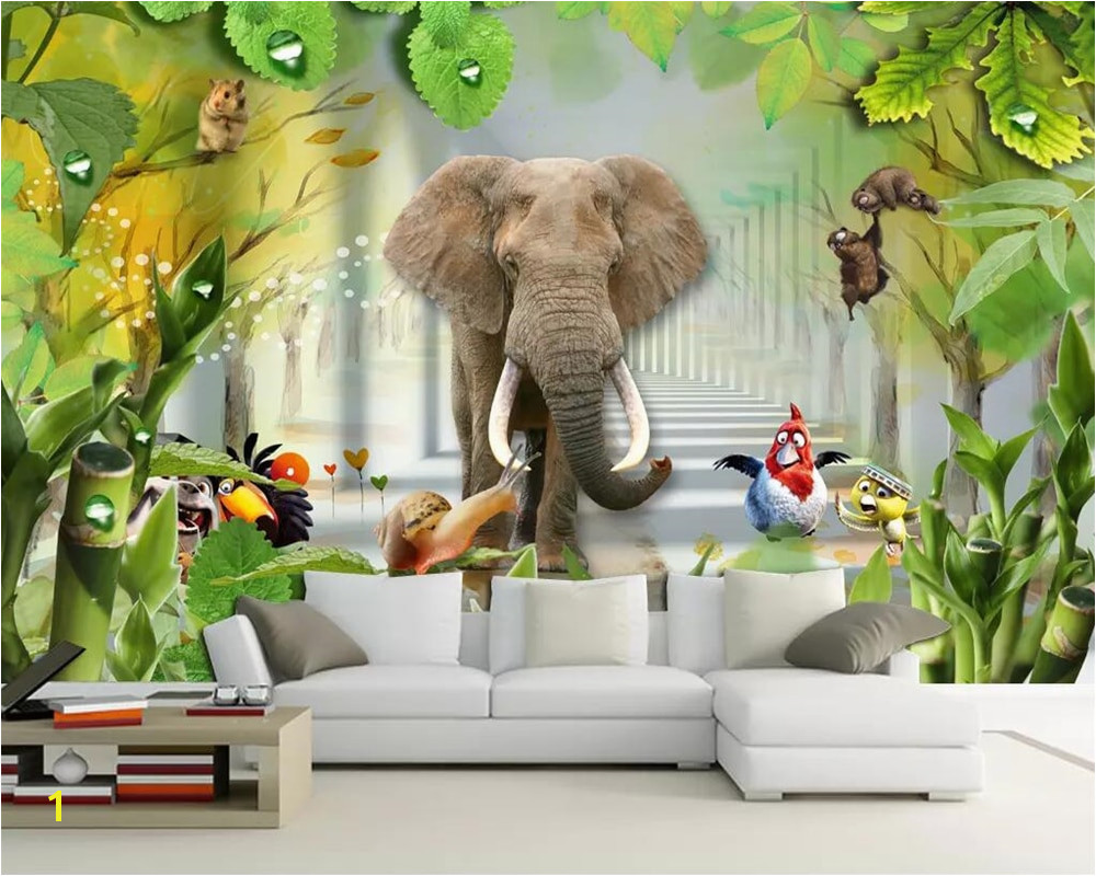 Beibehang Custom wallpaper 3D cartoon children s room murals 3D beautiful scenery kids room home decoration mural 3d wallpaper