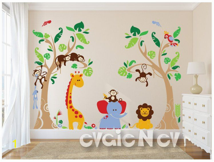 Tropical Wall Decals Baby Wall Decals Baby Room Wall Stickers Childrens Wall Stickers