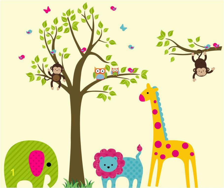 Jungle Safari Wall Murals Safari Wall Decals Nursery Safari Decals Kids Room Wall