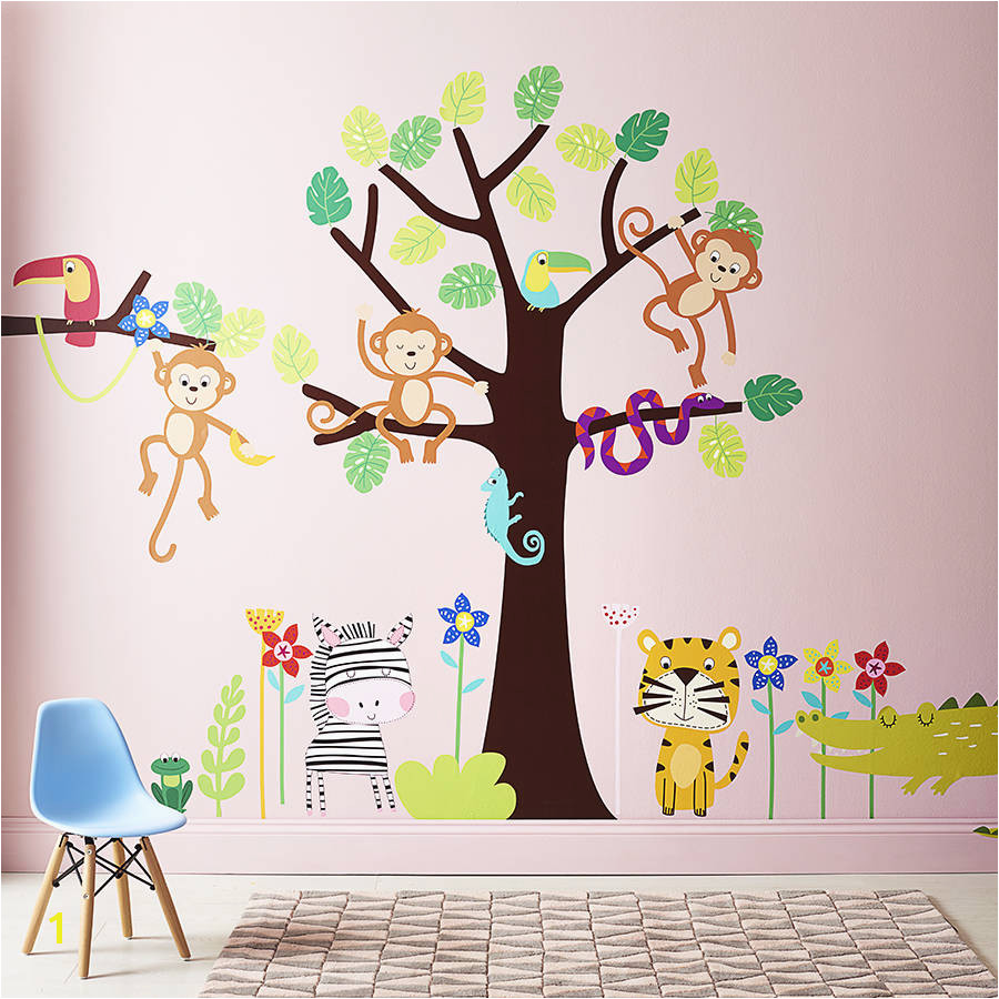 Children s Tropical Jungle Wall Sticker Set