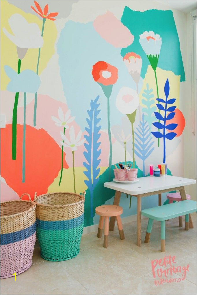 Kids Playroom Murals Playroom by Petite Vintage Interiors Kidsworld