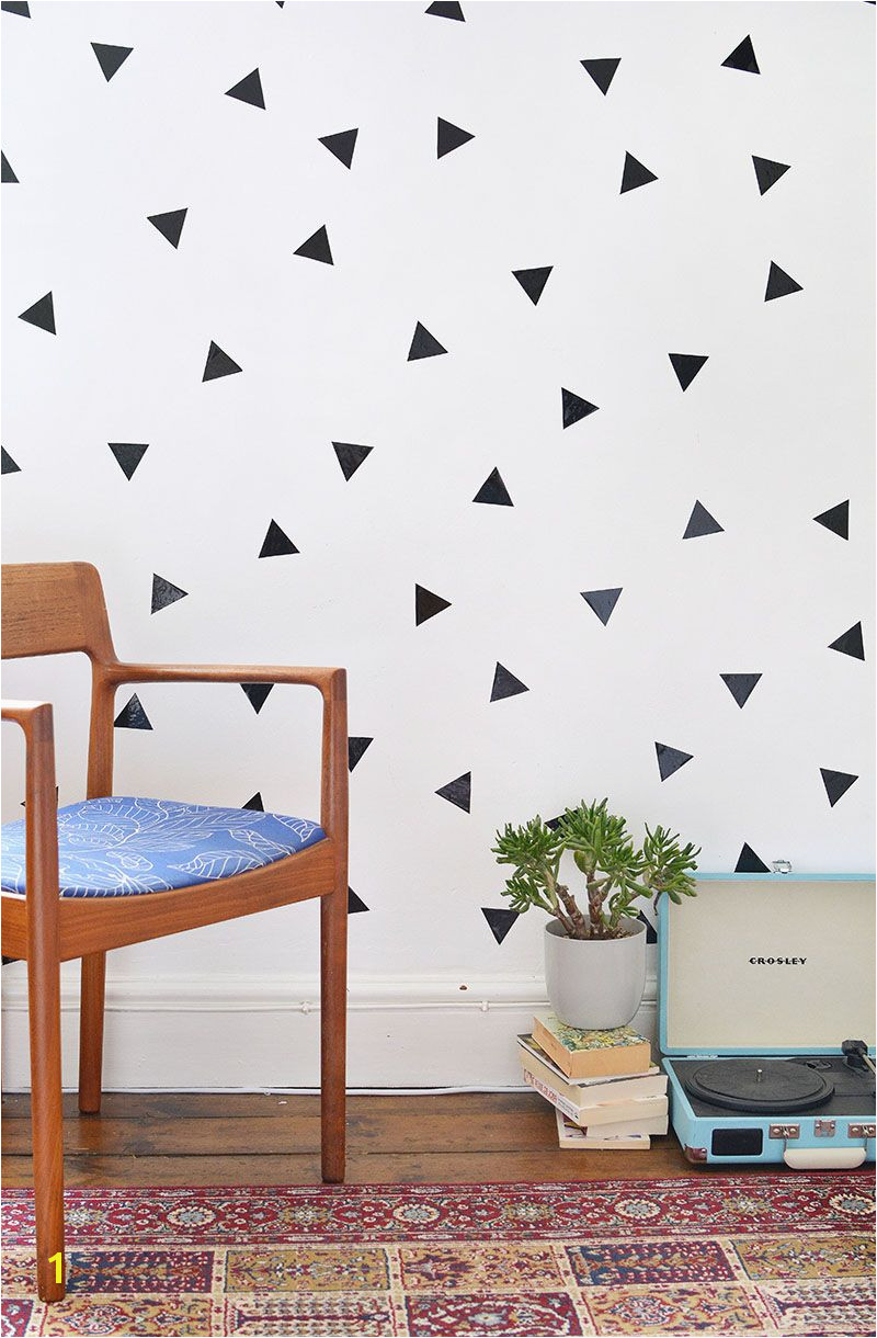DIY Removable Triangle Wall Art Decals