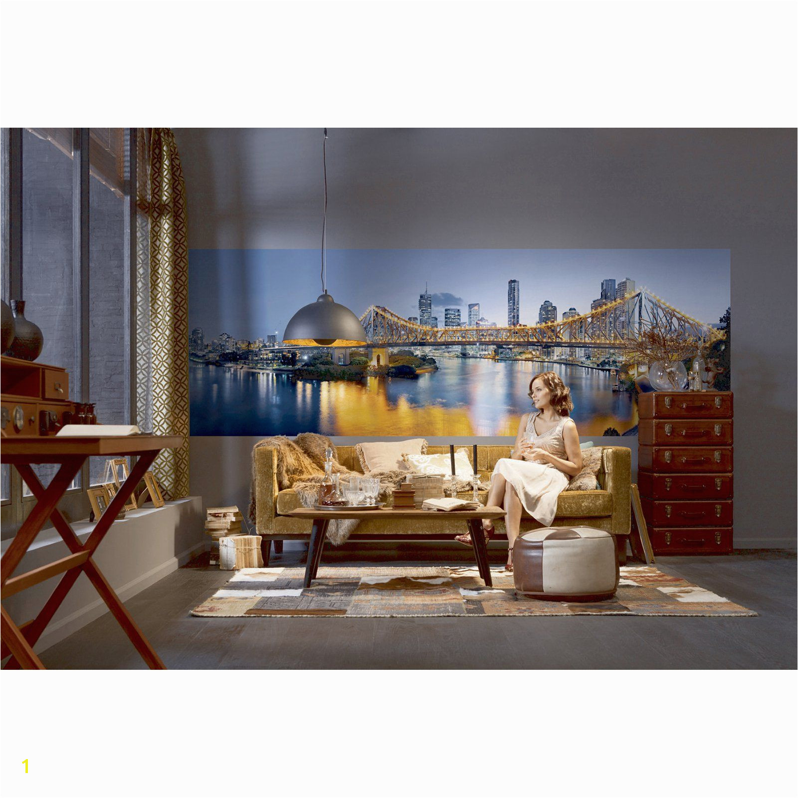 Komar Brisbane Wall Mural XXL2 010 Skyline Von New York Stone Wallpaper