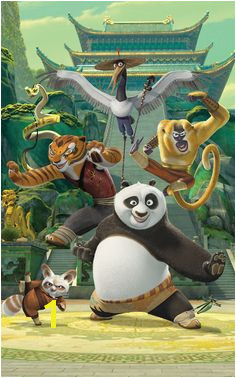 WT Kung Fu Panda Wall Mural by Brewster