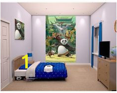 The Walltastic Kung Fu Panda Poster Mural inspired by the hit movie Kung Fu Panda and is sure to make a wel e addition to a child s bedroom or playroom