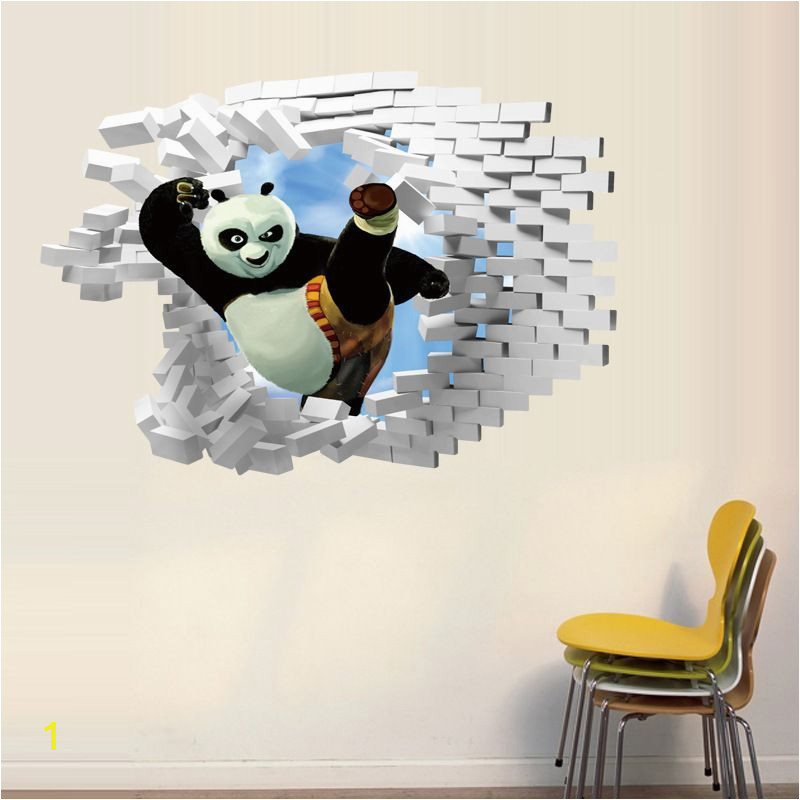 Kung Fu Panda Wall Mural Find More Wall Stickers Information About 1pc Kung Fu Panda 3d Wall