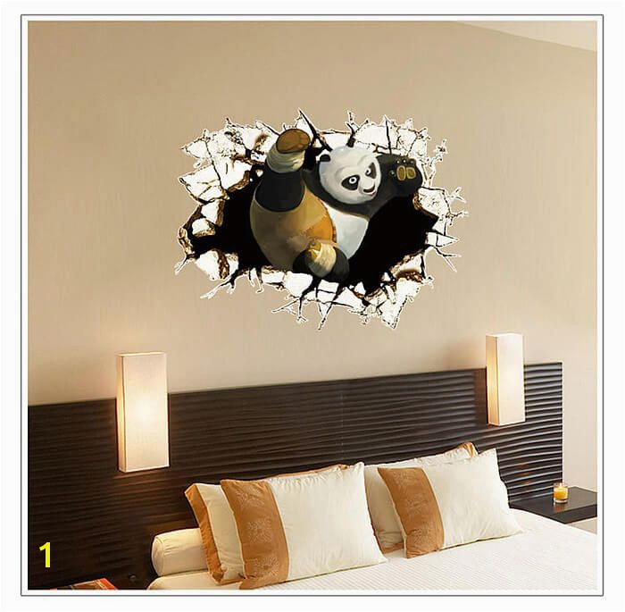 Kung Fu Panda Wall Art Stickers 3D