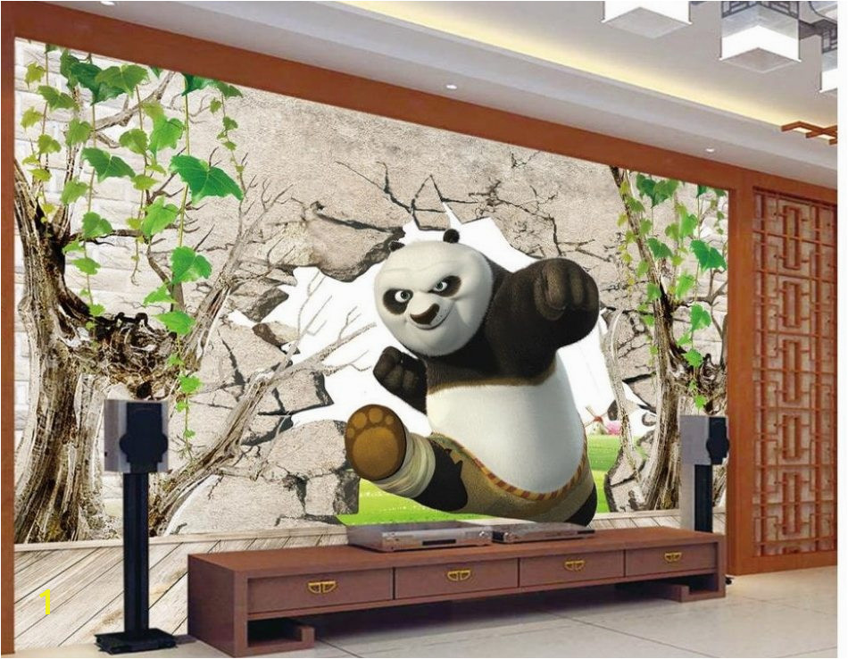 Modern Polka Dot Wallpaper for Walls Awesome á— home Decoration 3d Kung Fu Panda