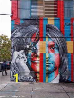 27 Club mural by Kobra Street Art featuring Janis Joplin and Kurt Cobain in New York