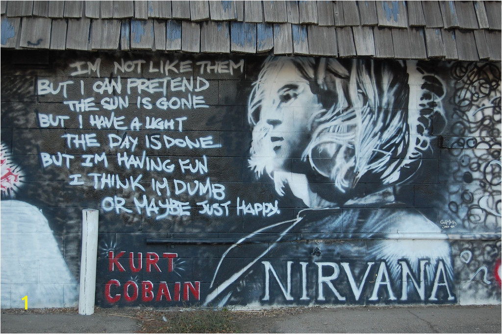 Kurt Cobain fleemanr Tags mural nirvana longmont elvis 2pac tagging biggie dimebagdarrel rcfleeman