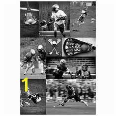 Lacrosse Collage Wall Mural Beach Wall Murals Boys Bedroom Decor Team s Sports
