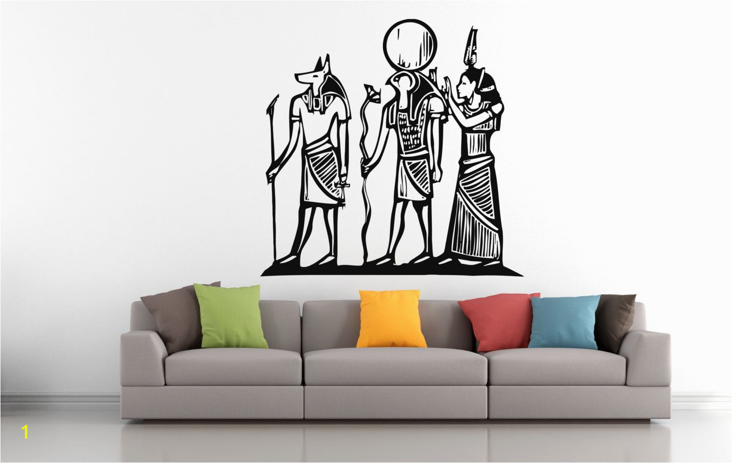 Wall Vinyl Sticker Decals Mural Room Design Pattern Art Bedroom Egypt God Anubis Ra Hathor Ancient Culture bo2497 by RoomDecalsAndDesigns on Etsy