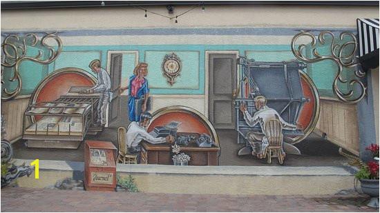 Lake Placid FL A mural depicting the medical munity