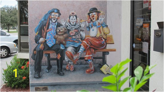 Murals of Lake Placid Clown instruction a local speciality