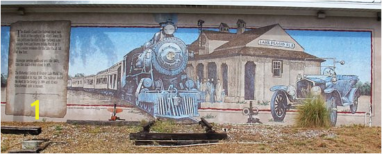 Lake Placid FL Mural by the old railway station