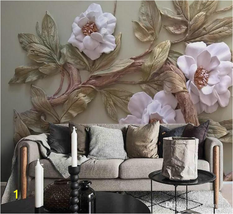Customize Any Size 3D Wallpaper Mural Stereoscopic Relief Flower Tree Living Room Bedroom TV Background Wall Decoration Mural Wallpaper Girls Wallpaper Hd