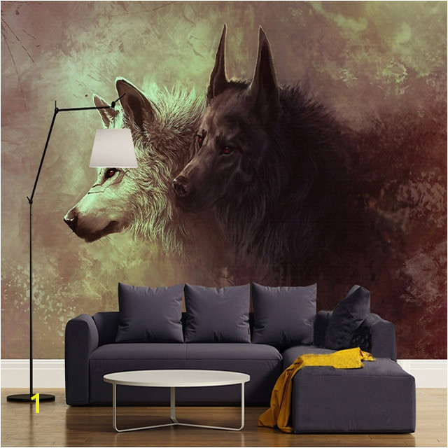 Custom 3D Poster Wallpaper Wolf Totem Wild Wall Painting Modern Living Room Study Bedroom Background