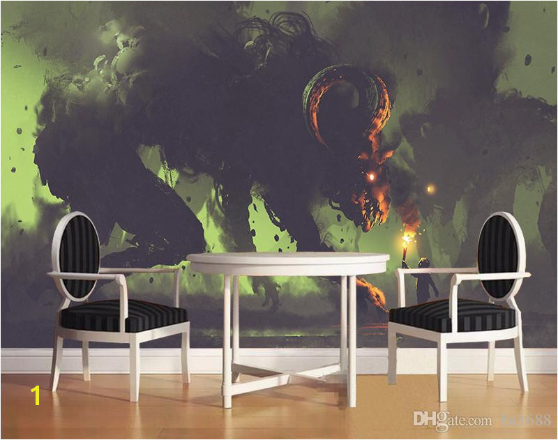 Large Mural Posters Custom 3d Wallpaper A Monster Robot and A Little Boy with A torch