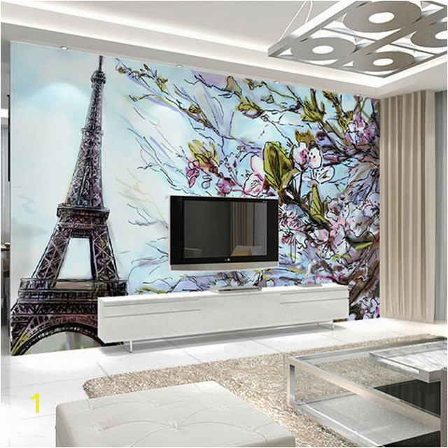 Custom Any Size 3D Poster Wallpaper Paris Eiffel Tower Mural Wall Art Living Room Bedroom TV Sofa Background Wallpaper