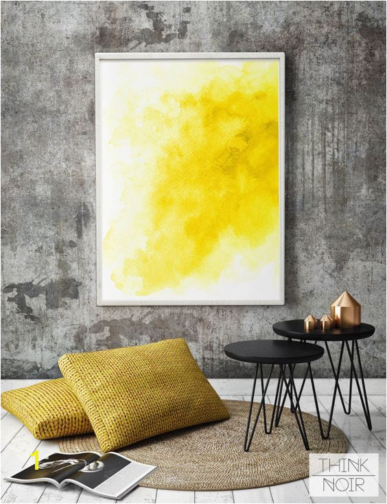 Large Mural Posters Yellow Watercolor Wall Art Modern Wall Poster Watercolor Wall