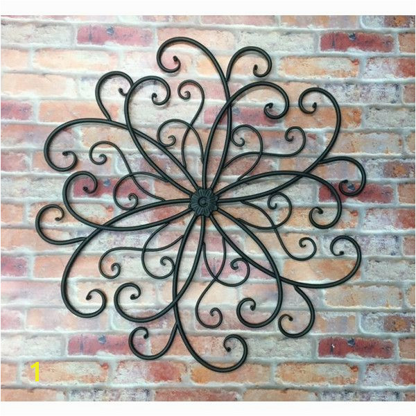 Outdoor metal wall art metal wall hanging bohemian decor faux wrought iron metal wall decor garden art outdoor decor sslid0242 bohe…