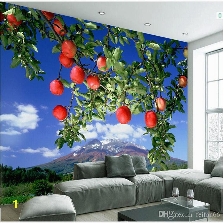 3D Scale Mural Apple Tree Wallpaper Living Room Bedroom TV Background Wall Visual Restaurant Fresh Fruit Wallpaper Widescreen Desktop Wallpapers
