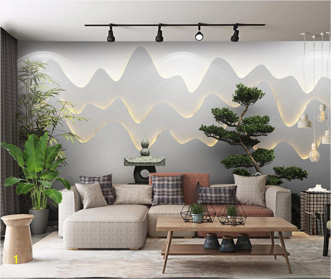 Retail 3D Three Dimensional Zen Garden Landscape Background Wall Green Bamboo Wel ing Pine Beautiful Mural Desktop Wallpaper Desktop Wallpaper Download