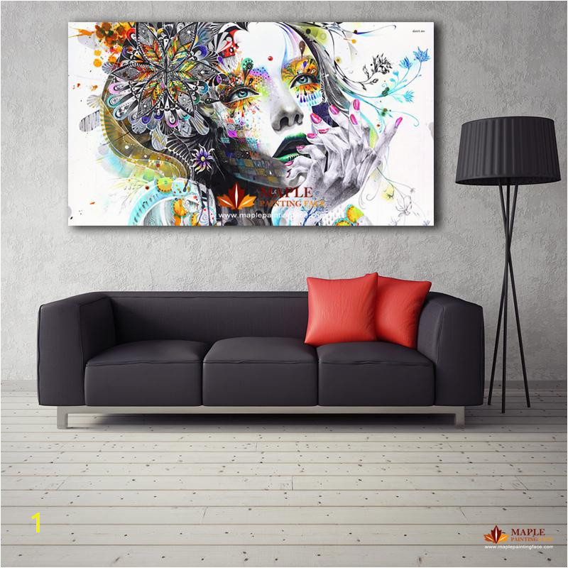 2019 Canvas Painting Modern Wall Art Girl With Flowers Oil Painting Printed Canvas For Home Decor Living Room From Canvasartstore