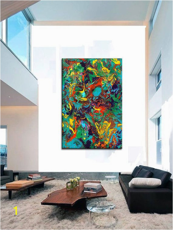 Oversized Canvas Wall Art Contemporary Abstract Prints Epoxy Resin Art Painting Extra Wall