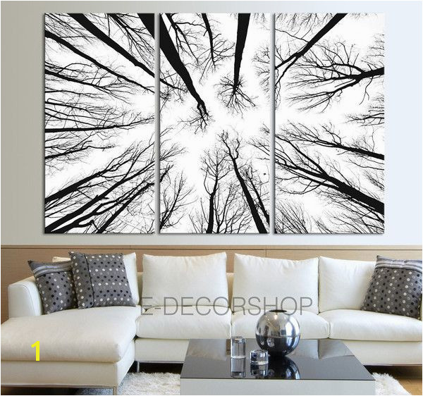 Wall Art Canvas Prints Dry Tree Branches Wall Art Forest