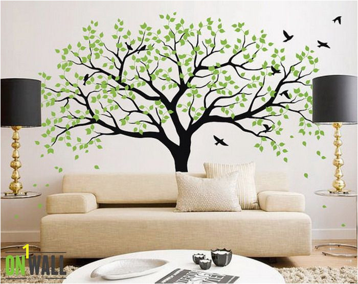 Large Wall Murals Trees Living Room Ideas with Green Tree Wall Mural Lovely Tree Wall Mural