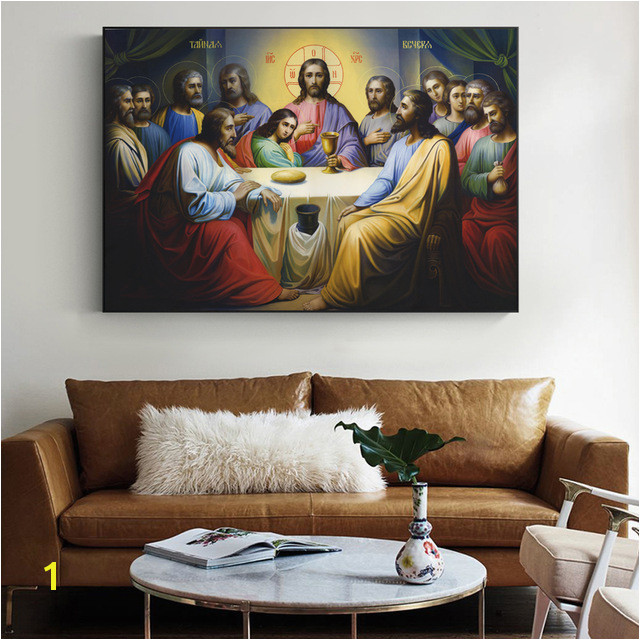 Jesus Last Supper Paintings The Wall The Institution of the Eucharist in Scripture Wall Art Canvas For Living Room