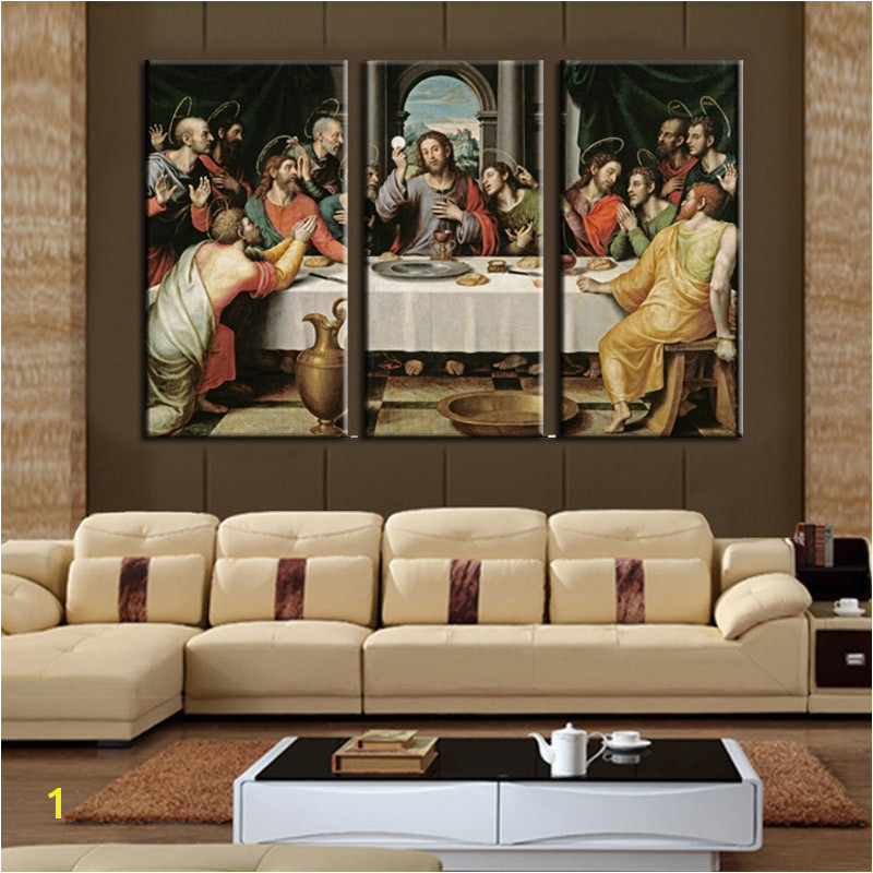 Framed 3pcs THE LAST SUPPER JESUS Modern home decor Canvas Print Painting Wall Art Picture For
