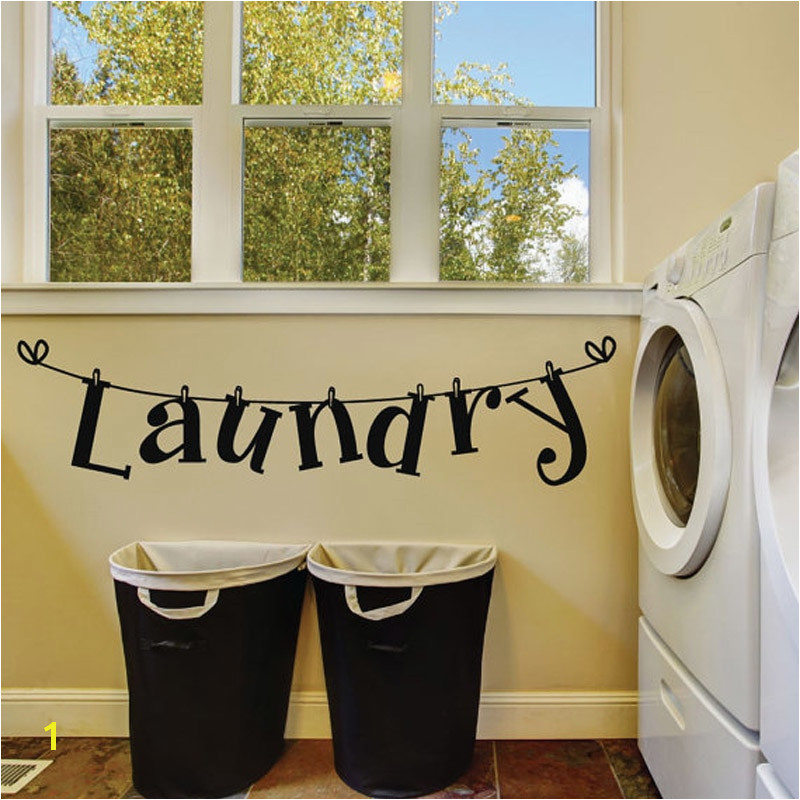 Laundry Room Murals Dctop Laundry Room Vinyl Wall Sticker Laundry Signs toilet Decals