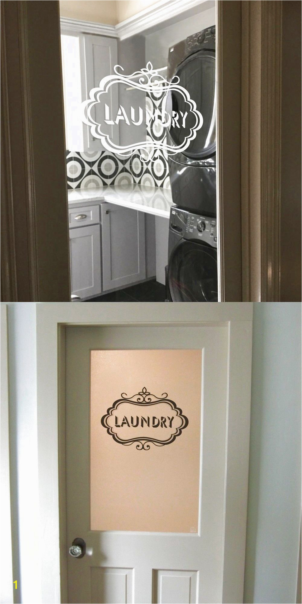 Inspired Wall Decal Laundry Room Glass Door Quote Home Removable Art Mural Decor $11 2