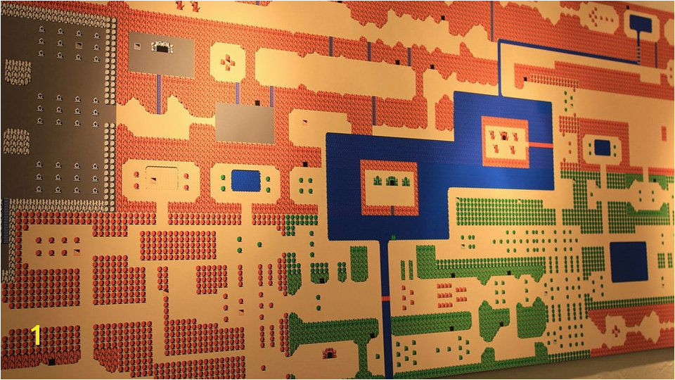HUGE over 4 Foot Long Wall Mural of ZELDA for the NES Map