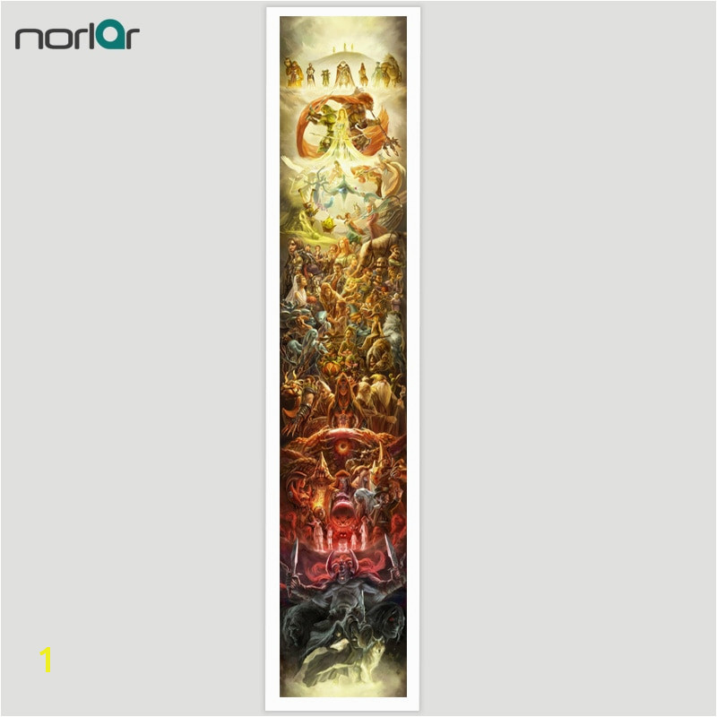 Super Long 1 6m 2 2m Art Canvas legend of zelda 25th anniversary Print Poster Wall Decor Canvas Painting Wall Picture No Frame