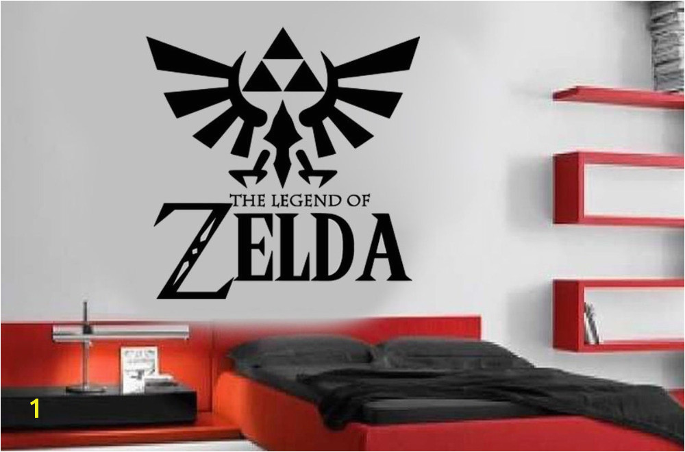 large Legend Zelda Gaming Quote Vinyl Wall Art Stickers For Kids Room Boy Bedroom Home