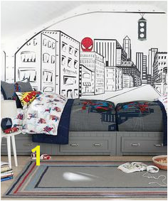 Spiderman Bedding This dramatic high impact silhouette of the superhero s famous mask is