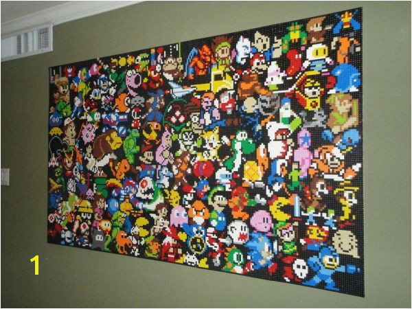 Lego Wall Mural Is Full of Gaming Icons Holy crap so awesome I want to do something like this
