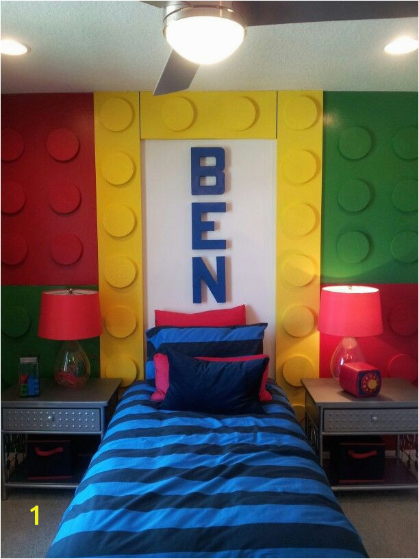 Lego Wall Murals Lego Wall Using Wood Planks & Foam Circles Instead Of Bed Frame We