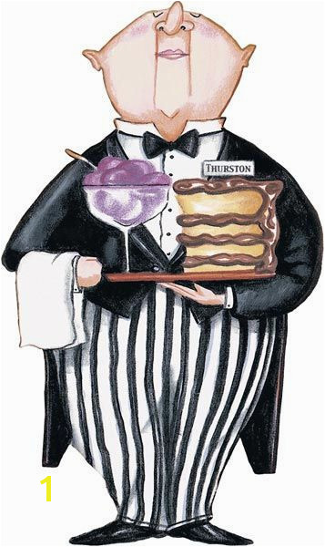 Life Size Waiter Thurston Peel and Stick Mural Wall Sticker Outlet