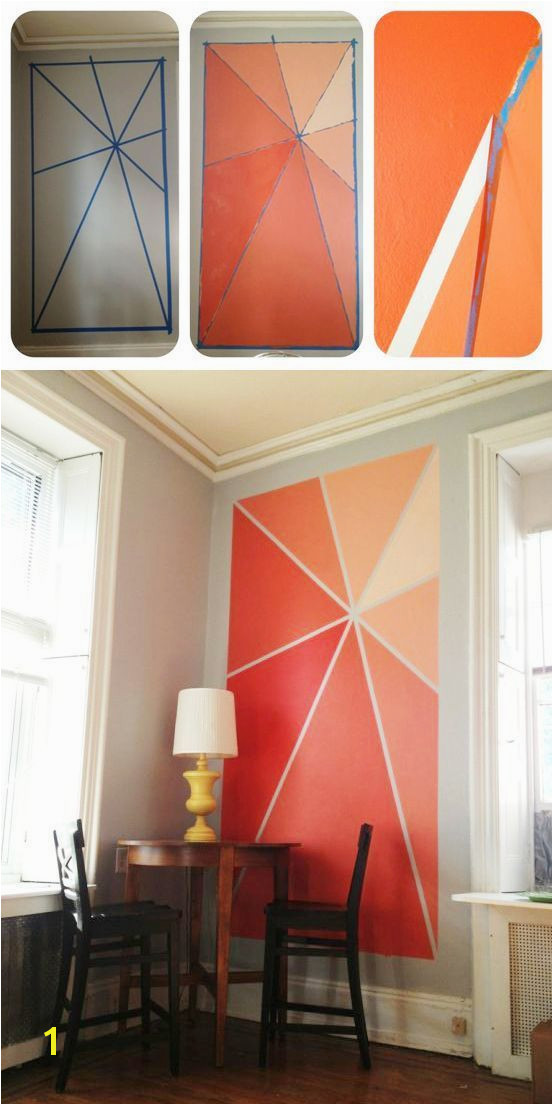 Light Up Wall Murals 20 Diy Painting Ideas for Wall Art Accent Walls Pinterest