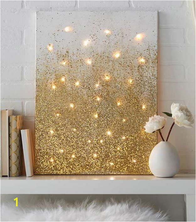 11 Ways to Love String Lights All Year Illuminated Wall Art Could paint a field of grass weeds with firefly lights