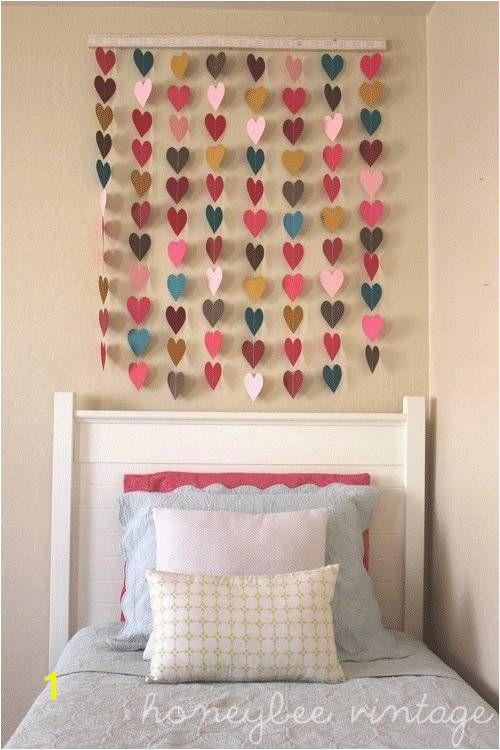 "Check out ""DIY Paper Heart Wall Art"" Decalz Lockerz sweet little girls bedroom & headboard art"