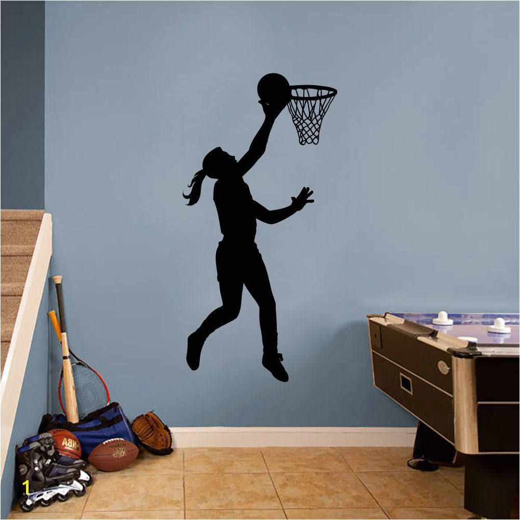 Basketball Girl Layup Wall Decal Sweetums Wall Decals