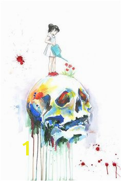 Skull Fine Art Print by Lora Zombie Available Here