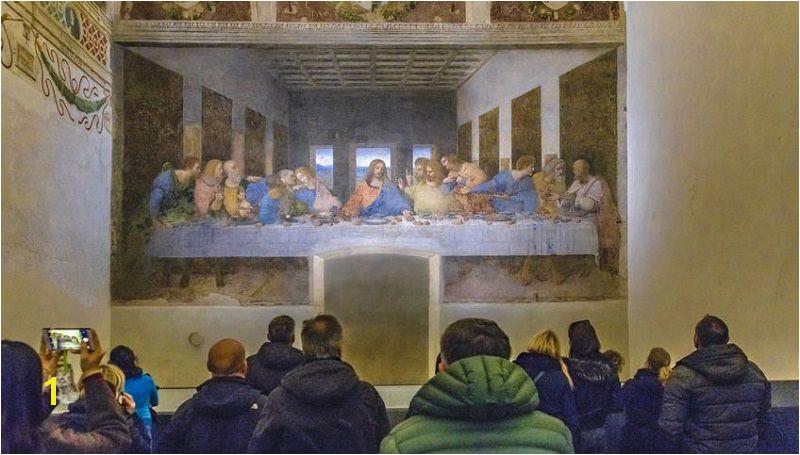 of The Last Supper at Santa Maria delle Grazie Church Milan Italy